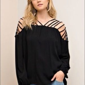ENTRO BLACK STAP ARM AND BACK TOP